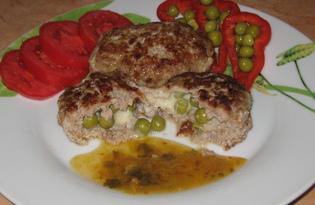 Зразы с горошком и сыром (пошаговый фото рецепт)