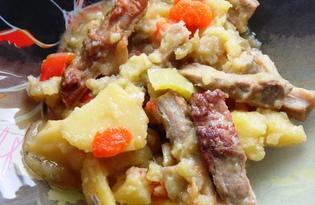 Овощное рагу со свининой (пошаговый фото рецепт)