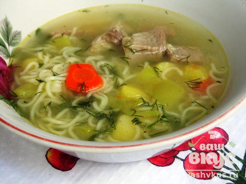 Лапша с мясом суп рецепт с пошагово