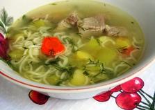 Суп с лапшой и свининой (пошаговый фото рецепт)
