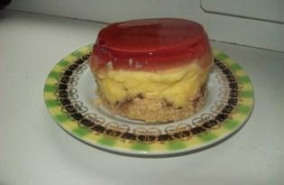 Молочный десерт с ягодным желе (пошаговый фото рецепт)