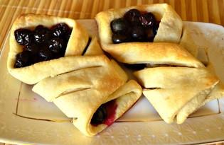 Слойки с виноградом (пошаговый фото рецепт)