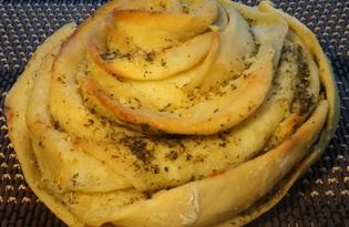 Чесночный хлеб (пошаговый фото рецепт)