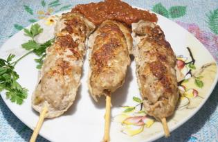 Люля-кебаб из говядины в духовке (пошаговый фото рецепт)