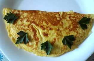 Французский классический омлет с сыром (пошаговый фото рецепт)