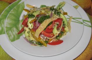 Салат из авокадо с сыром (пошаговый фото рецепт)
