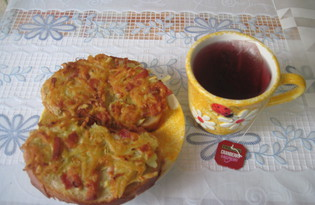 Бутерброды студенческие из батона и картофеля (пошаговый фото рецепт)