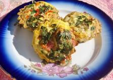 Омлет с помидорами в духовке (пошаговый фото рецепт)