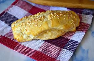 Слоеные сырные трубочки (пошаговый фото рецепт)