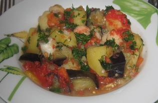 Овощное рагу с баклажаном и цветной капустой (пошаговый фото рецепт)