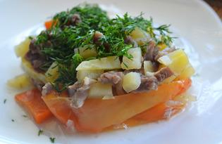 Картошка с мясом в болгарском перце (пошаговый фото рецепт)