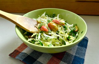 Капустный салат с оливковым маслом (пошаговый фото рецепт)