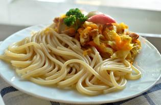 Спагетти на курином бульоне с овощами (пошаговый фото рецепт)