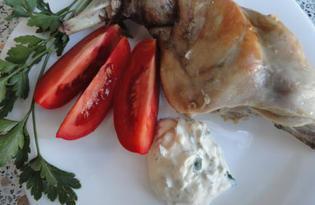 Кролик под сметанным соусом (пошаговый фото рецепт)
