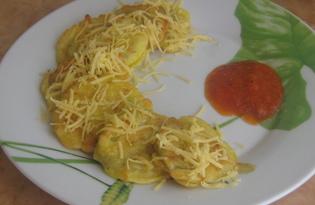 Баклажаны в сырном кляре (пошаговый фото рецепт)