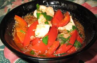 Гуляш из курицы с болгарским перцем (пошаговый фото рецепт)
