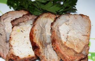 Свинина запеченная в майонезе с паприкой, чесноком и черным перцем (пошаговый фото рецепт)