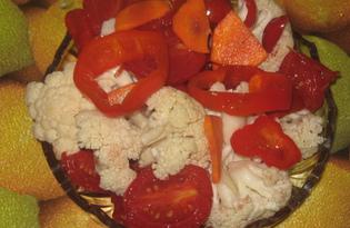 Маринованные овощи за ночь (пошаговый фото рецепт)