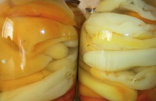 Болгарский перец с аспирином на зиму  (пошаговый фото рецепт)