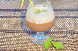 Кофейно - сливочный коктейль (пошаговый фото рецепт)