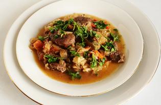 Овощное рагу с гусятиной (пошаговый фото рецепт)