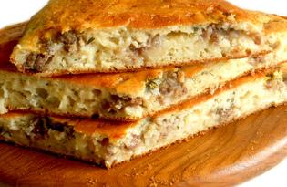 Пирог наливной с фаршем (пошаговый фото рецепт)