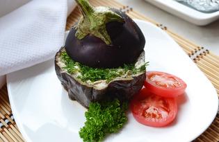 Фаршированный баклажан, запеченный в фольге (пошаговый фото рецепт)