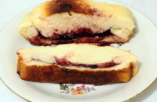 Пирог с черникой из дрожжевого теста (пошаговый фото рецепт)