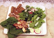Горячий гриль-салат со свининой (пошаговый фото рецепт)