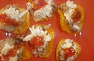 Закуска с чипсами и фаршем (пошаговый фото рецепт)