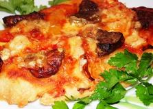 Мини-пицца с субпродуктами (пошаговый фото рецепт)