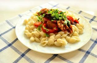 Болгарский перец тушеный с курицей и грибами (пошаговый фото рецепт)