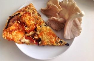 """Пицца """"Два гриба, три сыра"""" на слоеном тесте (пошаговый фото рецепт)"""
