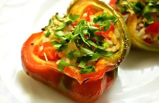 Фаршированный перец по-вегетариански (пошаговый фото рецепт)