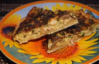 Пирог с картошкой, грибами и мясом (пошаговый фото рецепт)
