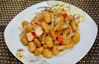 Салат из фасоли и сухарей (пошаговый фото рецепт)
