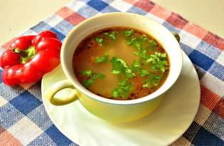 Гречневый суп с болгарским перцем (пошаговый фото рецепт)