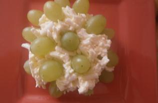 Салат из плавленного сыра с виноградом «Ежик» (пошаговый фото рецепт)