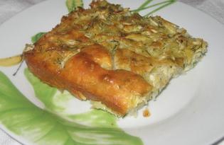 Заливной пирог с белокочанной капустой (пошаговый фото рецепт)
