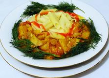Паста с кабачками и грибами (пошаговый фото рецепт)