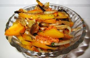 Овощной салат с баклажанами (пошаговый фото рецепт)