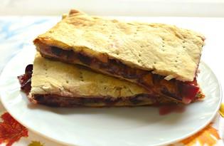 Сливовый пирог на дрожжевом слоеном тесте (пошаговый фото рецепт)