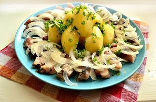 Закуска из сельди и вареного картофеля (пошаговый фото рецепт)