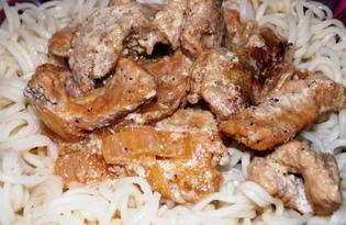Бефстроганов из свинины со сметаной (пошаговый фото рецепт)