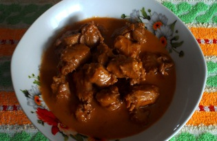 Куриные шеи в соусе (пошаговый фото рецепт)
