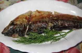 Скумбрия, запеченная с болгарским перцем (пошаговый фото рецепт)