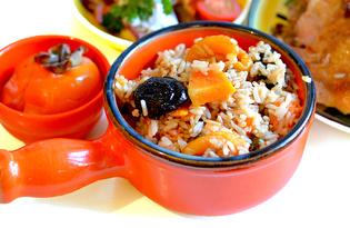 Рис тыквой, курагой и черносливом (пошаговый фото рецепт)
