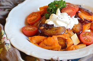 Теплый салат с тыквой и сливой (пошаговый фото рецепт)