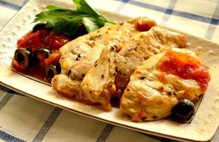 Куриная грудка с маслинами в белом вине (пошаговый фото рецепт)