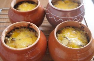 Пельмени в горшочках с овощами и сыром (пошаговый фото рецепт)